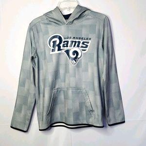 NFL Los Angeles Rams hooded sweatshirt hoodie Lg
